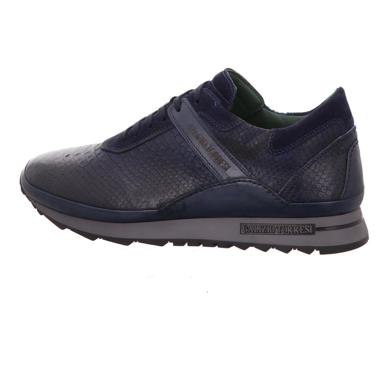 Blau Torresi Leder Galizio Glatt Sneaker c3TFJlK1