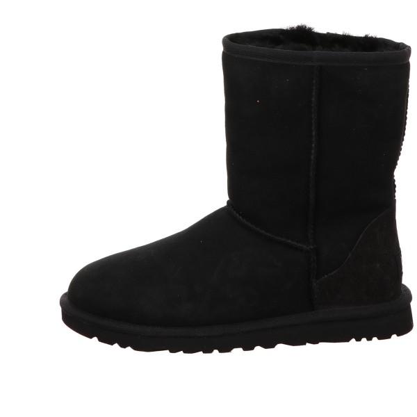 Boots. Classic Short UGG Velour Leder Schwarz