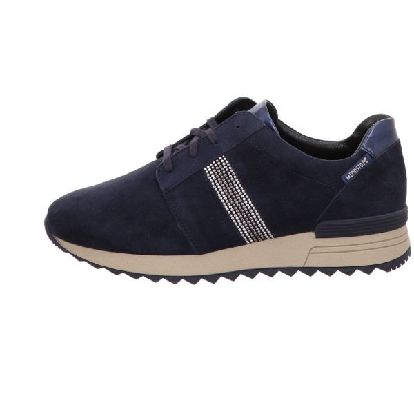 Sneaker, Topazia Mephisto Velour Leder Blau