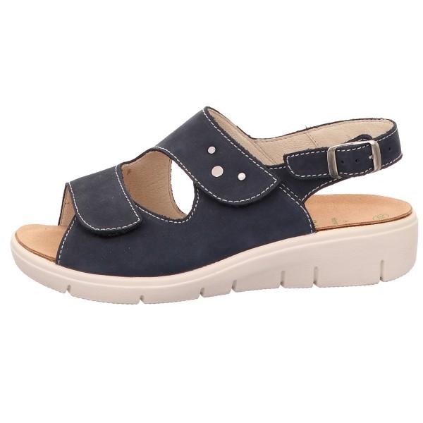Sandale, Honey Solidus Nubuk Leder Blau
