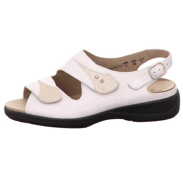 Sandalette, Lia Solidus Glatt Leder Offwhite