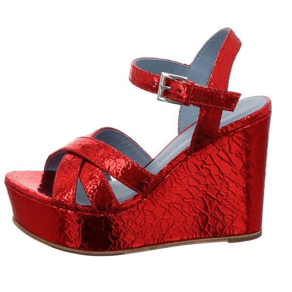 Wedges, Vivi Kennel und Schmenger Glatt Leder Rot
